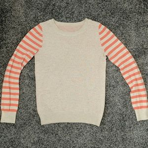 Coral and beige sweater